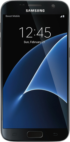 Boost Mobile - Samsung Galaxy S7 4G with 32Gb memory No-Contract Cell Phone - Black Onyx