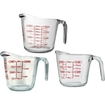 Anchor Hocking - 3-piece Measuring Cup Set - Clear 5086469
