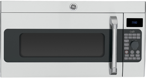GE - Café 1.7 Cu. Ft. Convection Over-the-Range Microwave - Stainless-Steel