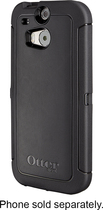 OtterBox - Defender Series Case for HTC One (M8) Cell Phones - Black