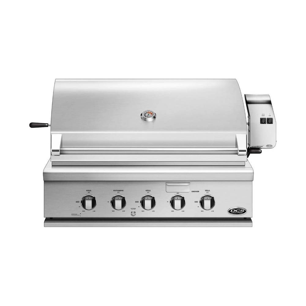 Dcs Traditional 36 Built In Gas Grill Brushed Stainless Steel Angle Zoom