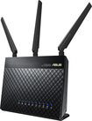 Asus - Wireless-AC Dual-Band Wi-Fi Router - Black
