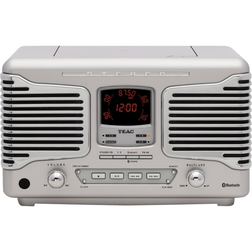 Teac - 10W Retro Style CD Stereo System with Bluetooth - Silver