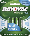 Rayovac - Rechargeable AAA Batteries (4-Pack) - Green