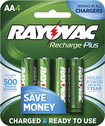 Rayovac - Rechargeable AA Batteries (4-Pack) - Green