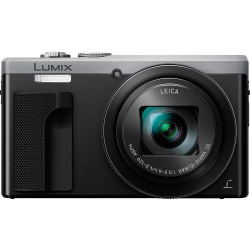 Panasonic - DMC-ZS60 18.1-Megapixel Digital Camera - Silver