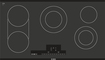 "Bosch - 800 Series 37"" Built-In Electric Cooktop - Black"