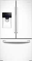 Samsung - 25.6 Cu. Ft. French Door Refrigerator with Thru-the-Door Ice and Water - White