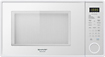 Sharp - 1.3 Cu. Ft. Mid-Size Microwave - Smooth White