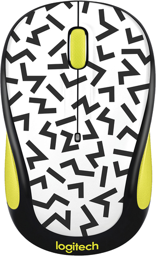 Logitech - Logitech M325c Optical Mouse - Yellow zigzag
