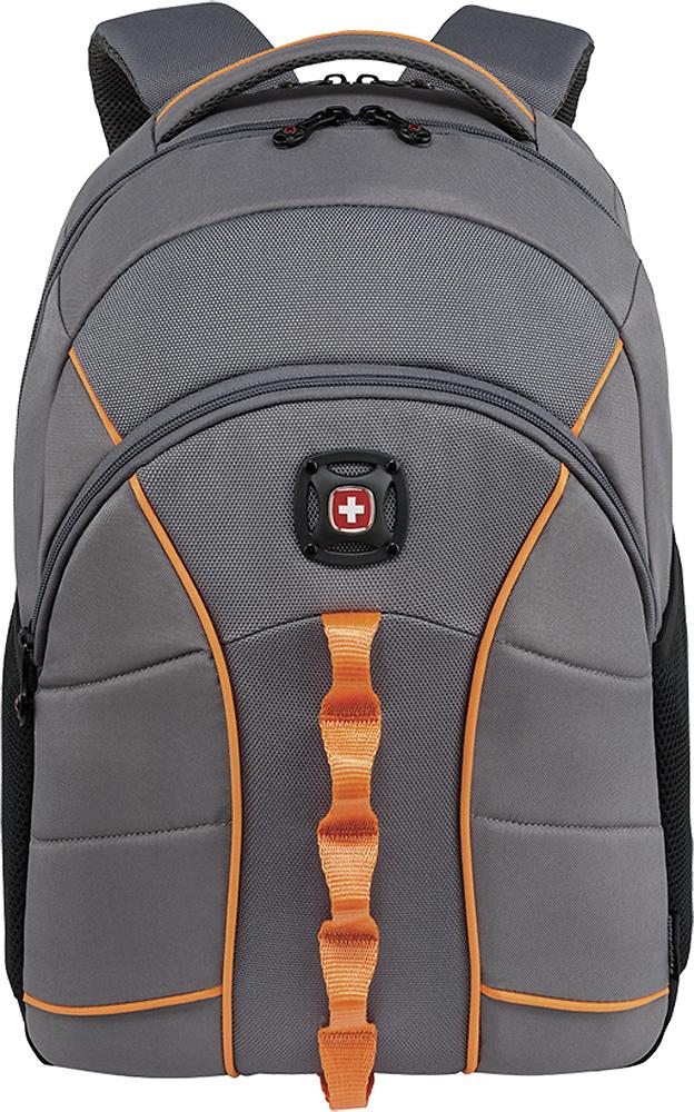 Swiss Gear - Sun Laptop Backpack - Gray/Orange