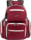 SwissGear - Breaker Deluxe Laptop Backpack - Red/Cream