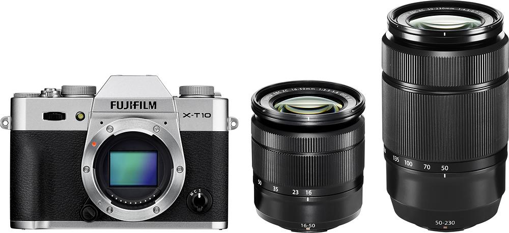 Fujifilm - X-t10 16.3-megapixel Digital Camera - Silver