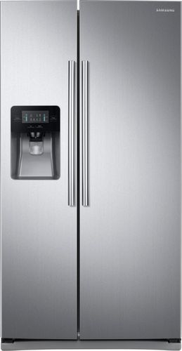 Samsung - 24.5 Cu. Ft. Side-by-Side Refrigerator - Stainless Steel