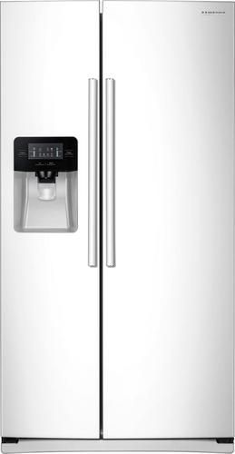 Samsung - 24.5 Cu. Ft. Side-by-Side Refrigerator - White