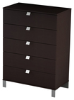 South Shore - Cakao Collection 5-Drawer Chest - Brown