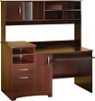 South Shore - Home Office Hutch-Style Computer Desk - Royal Cherry