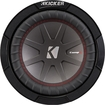 "Kicker - Compr 8"" Dual-voice-coil 2-ohm Subwoofer - Black"
