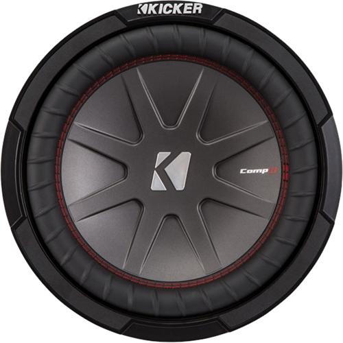 Kicker - CompR 10 Dual-Voice-Coil 4-Ohm Subwoofer - Black