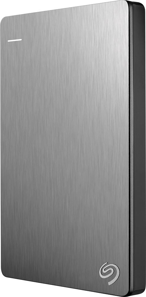 Seagate - Backup Plus Slim 1TB External USB 3.0/2.0 Portable Hard Drive - Silver