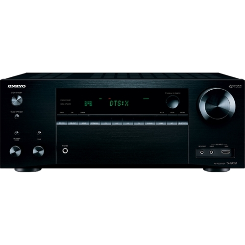 Onkyo - 1260W 7.2-Ch. Network-Ready 4K Ultra HD and 3D Pass-Through A/V Home Theater Receiver - Black