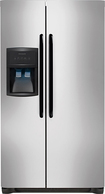 Frigidaire - 26.0 Cu. Ft. Side-by-Side Refrigerator with Thru-the-Door Ice and Water - Stainless-steel