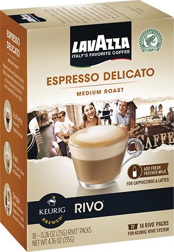 Keurig - Rivo Lavazza Delicato Espresso Cups (18-Pack) - Multi
