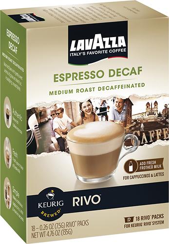 Keurig - Rivo Lavazza Decaffeinated Espresso Cups (18-Pack) - Multi