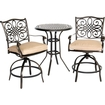 Hanover - Traditions 3-piece Bistro Set Outdoor Furniture - Natural Oat 5151508