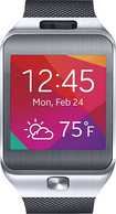 Samsung - Gear 2 Smart Watch with Heart Rate Monitor - Silver/Black