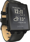 Pebble - Steel Smartwatch for Select iOS and Android Devices - Black