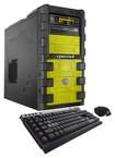 CybertronPC - SLIEX-2X960 Desktop - AMD FX-Series - 16GB Memory - 2TB Hard Drive + 128GB Solid State Drive - Yellow/Black