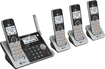 At&t - CL83484 Dect 6.0 Expandable Cordless Phone System with Digital Answering System - Silver/black