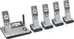At&t - CLP99586 Connect to Cell Dect 6.0 Expandable Cordless Phone System with Digital Answering System - Silver