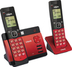VTech - CS5129-26 Dect 6.0 Expandable Cordless Phone System with Digital Answering System - Black; Red