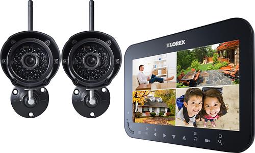 Lorex 4-Channel, 2-Camera Indoor/Outdoor Wireless Security System Black LW2742