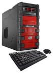 CybertronPC - Hyper-2X960 Desktop - Intel Core i7 - 16GB Memory - 2TB Hard Drive + 128GB Solid State Drive - Red