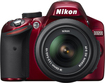 Nikon - D3200 DSLR Camera with 18-55mm VR Lens - Red