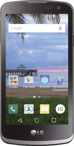 TracFone - LG Rebel L44VL 4G LTE with 8GB Memory Prepaid Cell Phone - Gray
