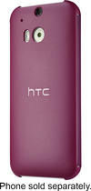 HTC - Dot View Case for HTC One (M8) Cell Phones - Purple