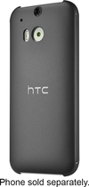 HTC - Dot View Case for HTC One (M8) Cell Phones - Warm Black