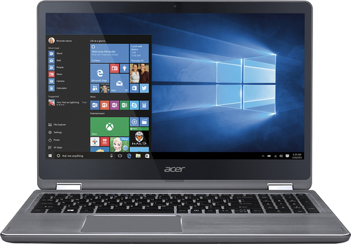 Acer - Aspire R 15 2-in-1 15.6 Touch-Screen Laptop - Intel Core i7 - 12GB Memory - 1TB Hard Drive - Steel gray