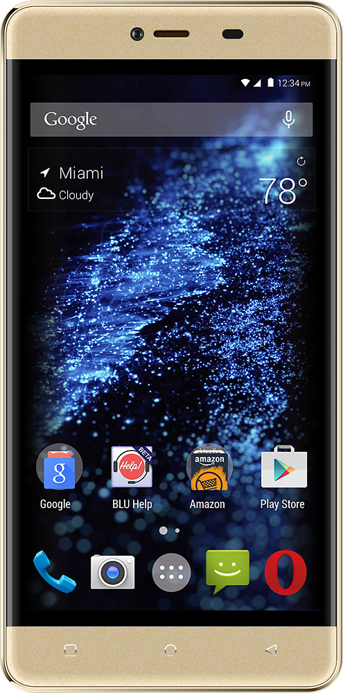 BLU Energy X 2 with 8GB Memory Cell Phone (Unlocked) Chic gold E050U BLK