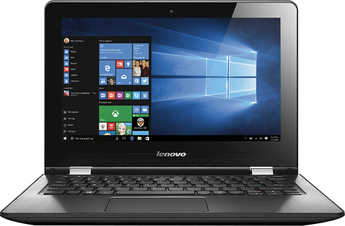 Lenovo - Flex 3 1130 2-in-1 11.6 Touch-Screen Laptop - Intel Celeron - 2GB Memory - 64GB Solid State Drive - Black