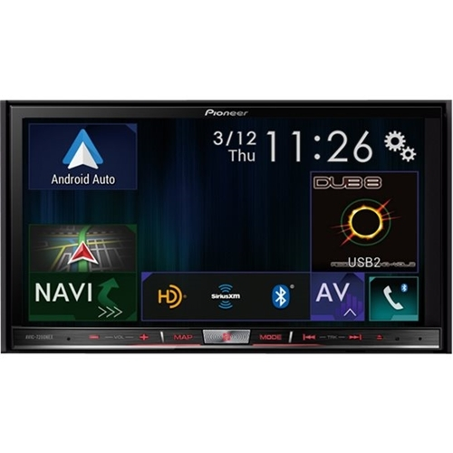 Pioneer - 7 - Android Auto/Apple CarPlay™ - Built-in Navigation - Bluetooth - In-Dash CD/DVD/DM Receiver - Black