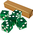 Trademark - A Grade Serialized Casino 5-Dice Set - Green