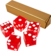 Trademark - A Grade Serialized Casino 5-Dice Set - Red