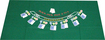 "Trademark Games - 36"" x 72"" Blackjack Layout - Green"