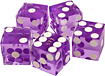Trademark - A Grade Serialized Casino 5-Dice Set - Purple