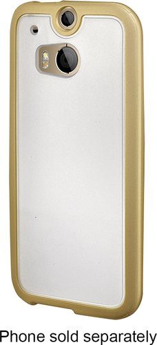 Insignia™ - Soft Shell Case for HTC One (M8) Cell Phones - Frost/Gold